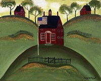 Red School House Barn Fine Art Print