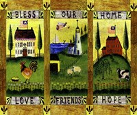 Bless our Home Love Friends Hope Lang Fine Art Print
