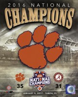 Clemson Tigers 2016 National Champions Team Logo Fine Art Print