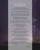 Desiderata Night Sky Framed Print