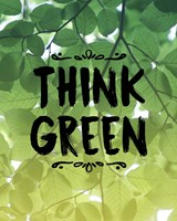 Think Green Ombre Leaves Fine Art Print
