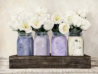 Tulips in Mason Jars Fine Art Print