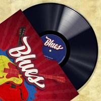 Vinyl Club, Blues Fine Art Print