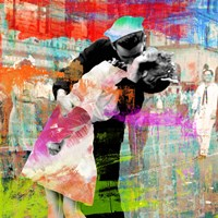 Kissing the War Goodbye 2.0 (detail) Fine Art Print
