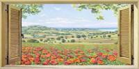 Finestra su Campo di Papaveri Fine Art Print