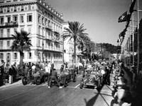 Depart du Grand Prix automobile de Nice 1934 Fine Art Print