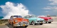 Cars in Avenida de Maceo, Havana, Cuba Fine Art Print
