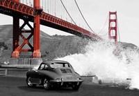 Under the Golden Gate Bridge, San Francisco (BW) Fine Art Print
