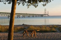 Mackinac Bridge, Mackinaw City Fine Art Print