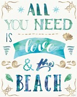 Love and the Beach I Fine Art Print