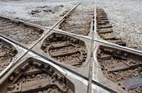 Mississippi, Corinth Crossroads Museum Rail track crossing Fine Art Print
