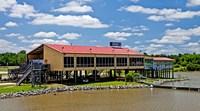 Local Restaurant in Columbus, Tombigbee Waterway, Mississippi Fine Art Print