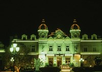 Monte Carlo Casino at Night, Monaco Fine Art Print