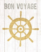 Beachscape VI Helm Quote Gold Neutral Fine Art Print