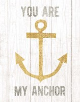 Beachscape III Anchor Quote Gold Neutral Fine Art Print