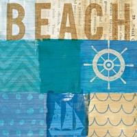 Beachscape Collage IV Fine Art Print