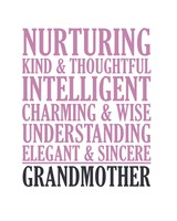 Adjectives for Grandma Fine Art Print