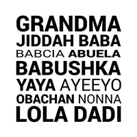 Grandma Various languages Fine Art Print