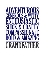 Adjectives for Grandpa Fine Art Print