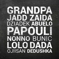 Grandpa Various Languages - Chalkboard Fine Art Print