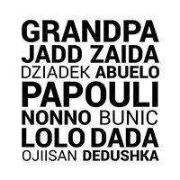 Grandpa Various Languages Fine Art Print