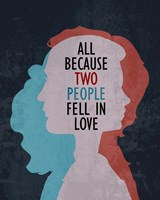 All Because Two People Fell In Love Silhouette Fine Art Print