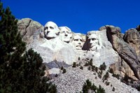Mt Rushmore Presidents, South Dakota Fine Art Print