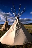 Sioux Teepee at Sunset, Prairie near Mount Rushmore, South Dakota Fine Art Print