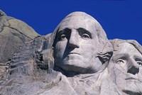 Presidents Washington and Jefferson, Mount Rushmore, South Dakota Fine Art Print