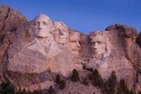 Mount Rushmore National Memorial at dawn, Keystone, South Dakota Fine Art Print