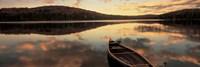 Water And Boat, Maine, New Hampshire Border Fine Art Print