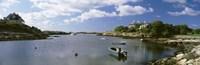 Boats in the ocean, Ocean Drive, Newport, Rhode Island Fine Art Print