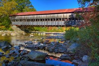 Albany covered bridge over Swift River, White Mountain National Forest, New Hampshire Fine Art Print