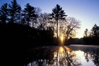 Nature Conservancy's Preserve, Lamprey River Below Packer's Falls, New Hampshire Fine Art Print