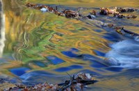 Fall Reflections in the Waters of the Lamprey River, New Hampshire Fine Art Print