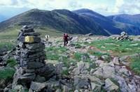 Backpacking on Gulfside Trail, Appalachian Trail, Mt Washington, New Hampshire Fine Art Print