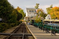 Scenic railroad at Weirs Beach, New Hampshire Fine Art Print