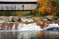 Covered bridge over Wild Ammonoosuc River, New Hampshire Fine Art Print