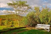 New Hampshire, Sugar Hill, Bench Fine Art Print