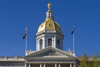 New Hampshire, Concord, New Hampshire State House, exterior Fine Art Print