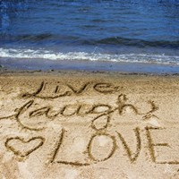Live Laugh Love In The Sand Fine Art Print