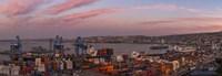 Dawn at Paseo 21 de Mayo, Playa Ancha, ValparaA-so, Chile Fine Art Print