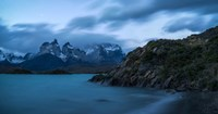 Lake with Mountain, Lake Pehoe, Torres de Paine National Park, Patagonia, Chile Fine Art Print