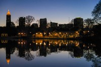 Midtown Skylines and Lake, Atlanta Fine Art Print