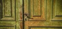 Closed Door of a House,  Transylvania, Romania Fine Art Print