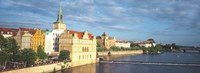 Buildings at the Waterfront, Prague, Czech Republic Fine Art Print