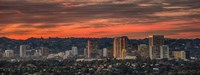 Century City, Hollywood Hills, Los Angeles, California Fine Art Print