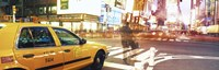 Blurred Traffic in Times Square, New York City Fine Art Print