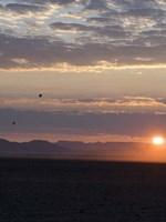 Hot Air Balloons at Dusk, Namib-Naukluft National Park, Namibia Fine Art Print