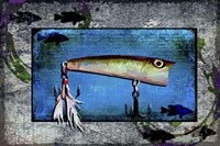 Fishing - Bass Lure Poppy Fine Art Print